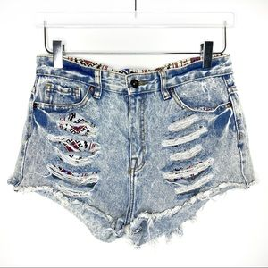 Forever 21 | Distressed Tribal Festival Shorts